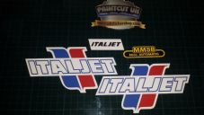 Italjet Vintage sticker kit m5 mm5 mm5b 80s scrambler mini bike restoration